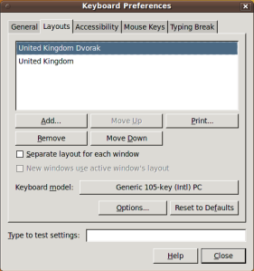 GNOME's new layout preferences dialog