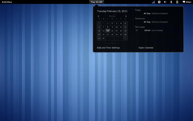 GNOME 3 Calendar