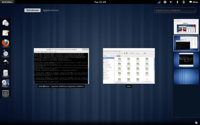 GNOME 3 Workspaces