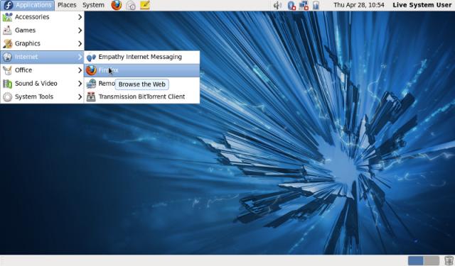 GNOME 2 Applications Menu
