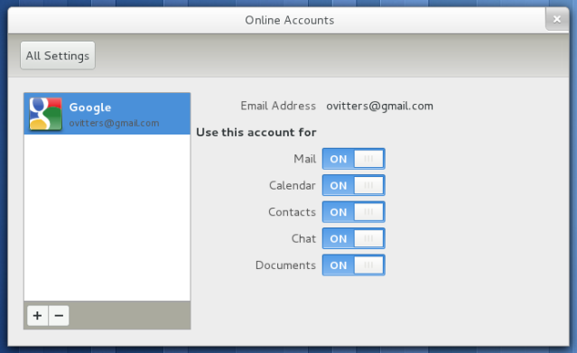GNOME Online Accounts