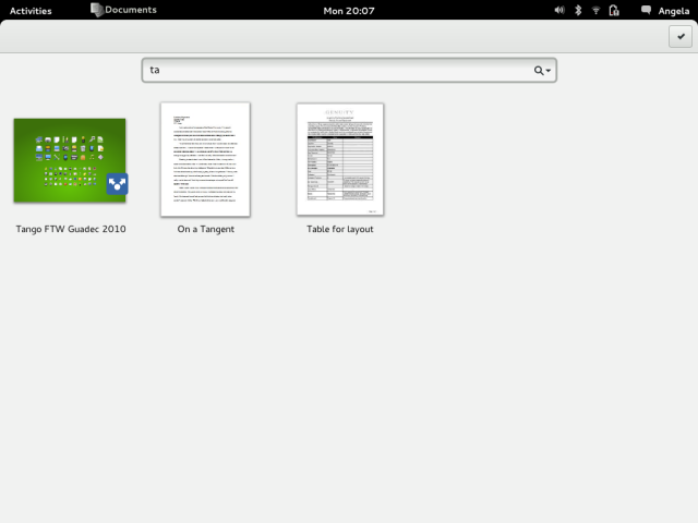 GNOME Documents Mockup - Search