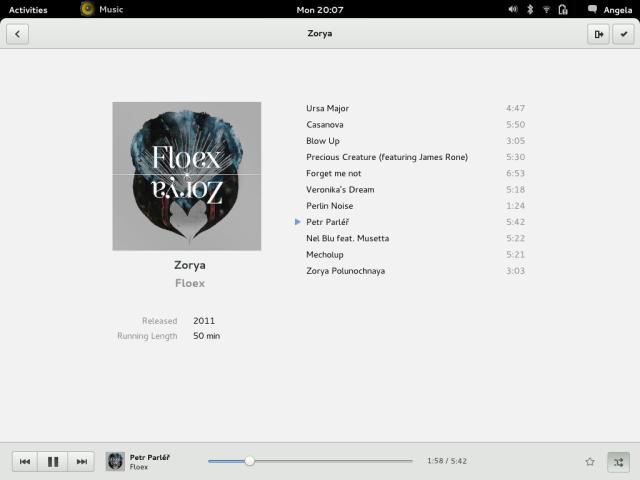 GNOME Music Mockup