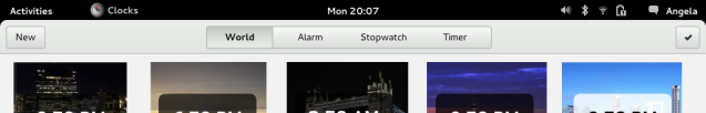 The Clocks Primary Toolbar