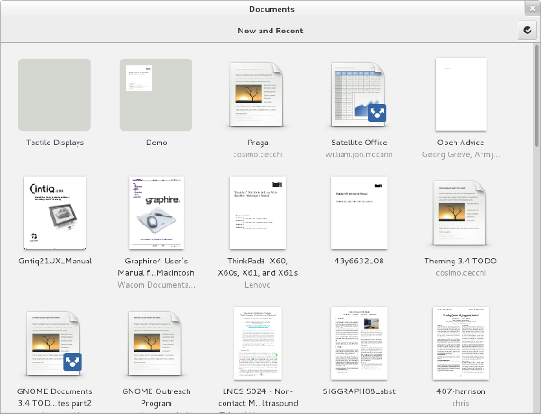 GNOME Documents Screenshot