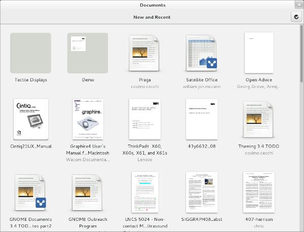 GNOME Documents Screenshot