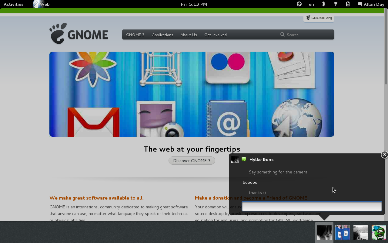 Taking GNOME 3 to the next level | As far as I know